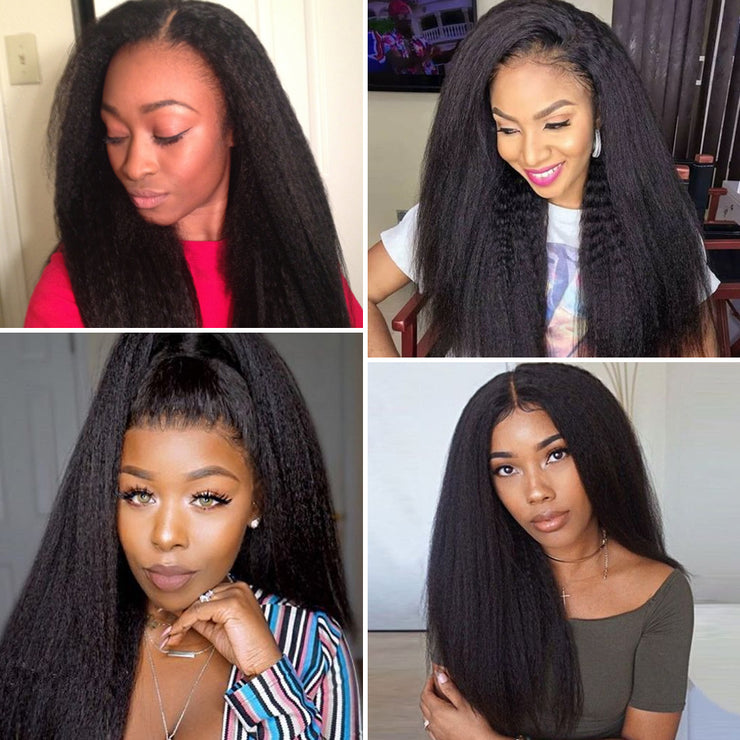 360 FULL LACE HUMAN HAIR WIG YAKI STRAIGHT 16INCH