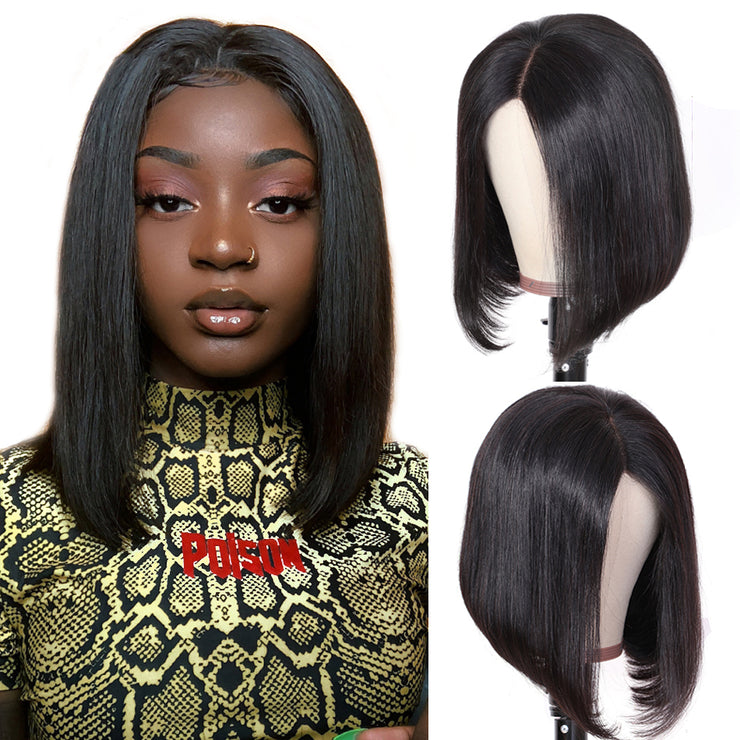 13x6/13x4 Lace Front Human Hair Wigs Straight Short Bob Wig-WIGNICE-Human Hair Wigs