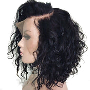 Water Wave Lace Front Human Hair Wig 12inch