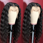 Deep Wave Lace Front Human Hair Wig 24inch