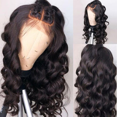 Loose Curl Hair Natural Color Human Hair Wigs 16-24 Inch-WigNice-Human Hair Wigs