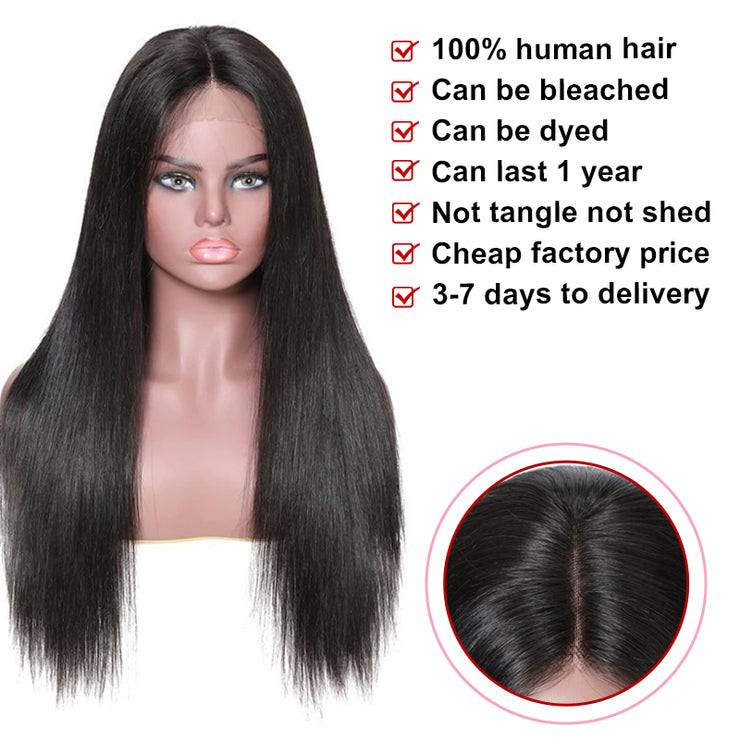 13x4 Straight Lace Front Human Hair Wig