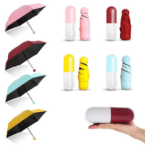 Windproof Double Layer Umbrella with Capsule Cover Umbrella for UV Protection & Rain | Outdoor Car Umbrella for Women & Men