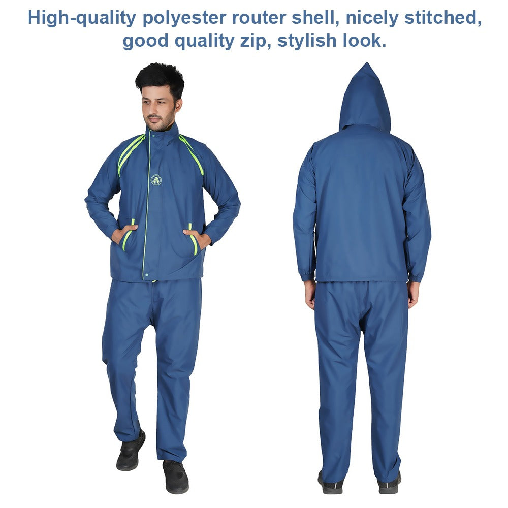 Premium Double Layer tracksuit as well as Raincoat (Jacket + Pants) 100% Waterproof