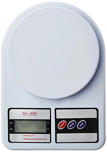 AMEXTRIAN Generic Electronic Kitchen Digital Weighing Scale, Multipurpose (White, 10 Kg)
