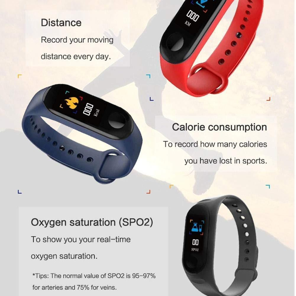 Rehent™ M3 Intelligence Bluetooth Smart Watch/Smart Bracelet/Health Band/Activity Tracker/Bracelet/Fitness Band/M3 Band/with Heart Rate Sensor Compatible for All Android iOS Phone Tablet