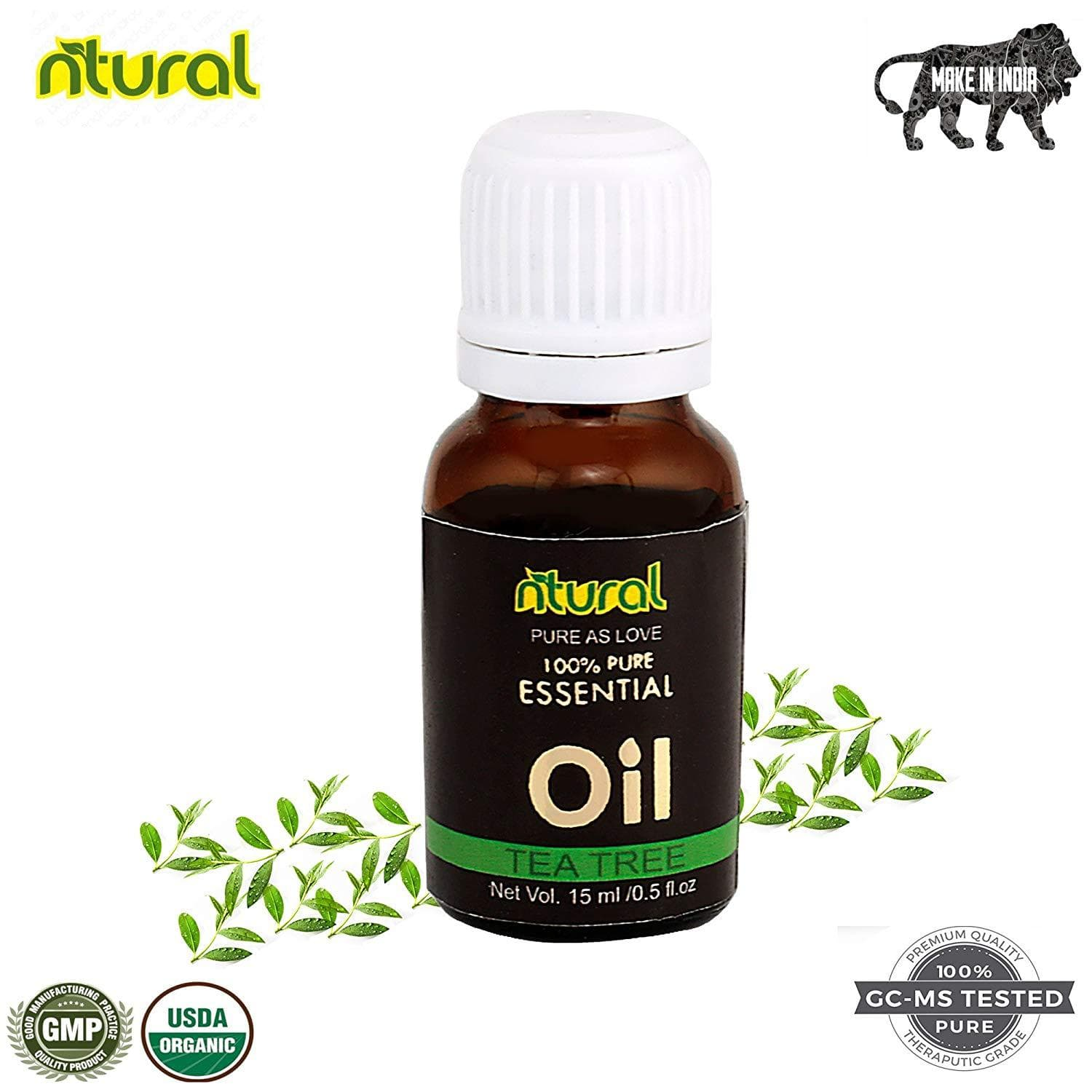Tea Tree Essential Oil for skin acne, fungal infection & hair growth (15Ml)