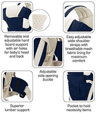 Load image into Gallery viewer, 4-in-1 Adjustable Baby Carrier with Safety Belt and Comfortable Head Support Front and Back Carrier Baby/Kids