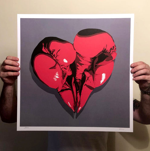 Boxing Glove Heart Lithograph