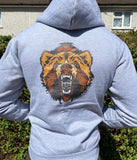 Grey Drippy x Unspoken Bear Hoodie