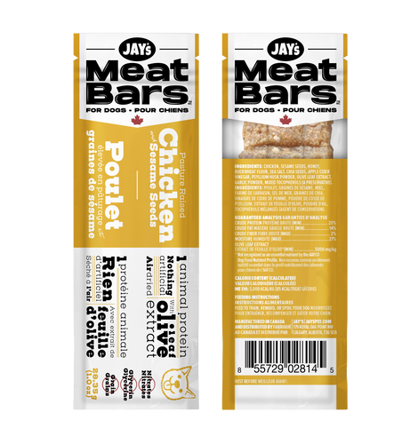 Pasture Raised Chicken and Sesame Seeds Meat Bar