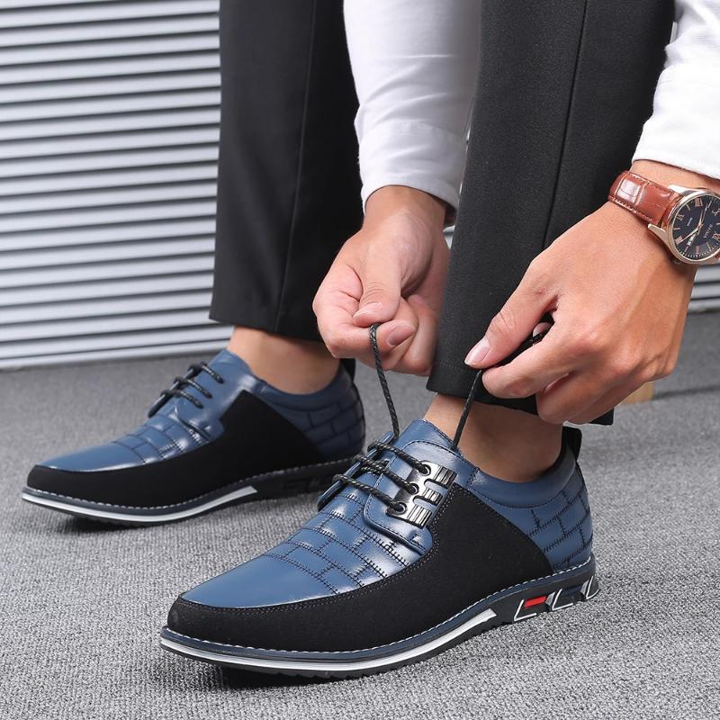 Oxfords Leather Mens Breathable Casual