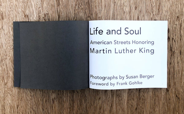 Life and Soul: American Streets Honoring Martin Luther King • Susan Berger signed