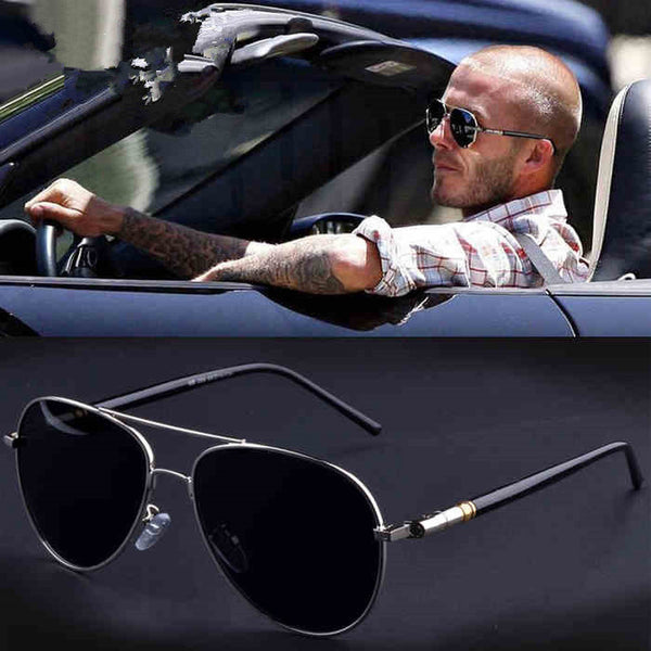 Aviation Metail Frame Quality Oversized Spring Leg Alloy Men Sunglasses Polarized