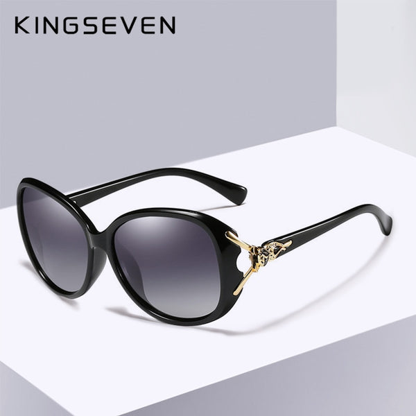 KINGSEVEN HD Sunglasses Polarized Retro Big frame luxury Eyewear Lady Brand Designer Sun glasses Oculos de sol