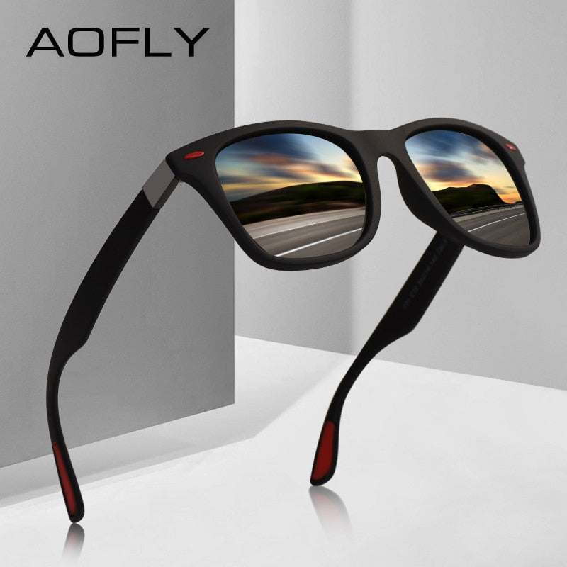 AOFLY NEW DESIGN Ultralight TR90 Polarized Sunglasses Men Women