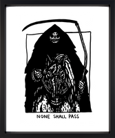 None Shall Pass A4 Art Print