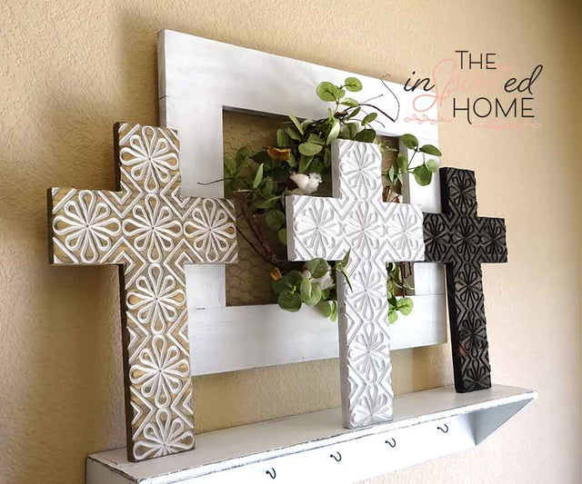 Carved Wooden Cross - The Inspirited Home