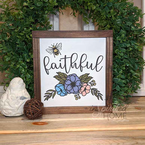 Bee Faithful - Carved Wooden Wall Art