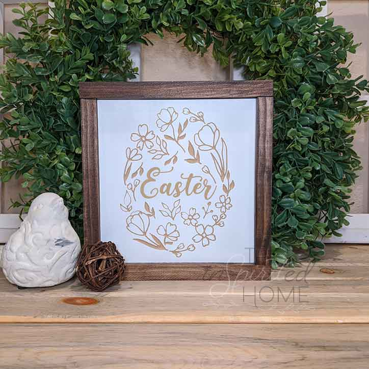 Easter Egg - Carved Wooden Wall Art