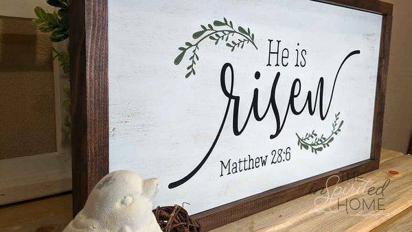 He is Risen Sign