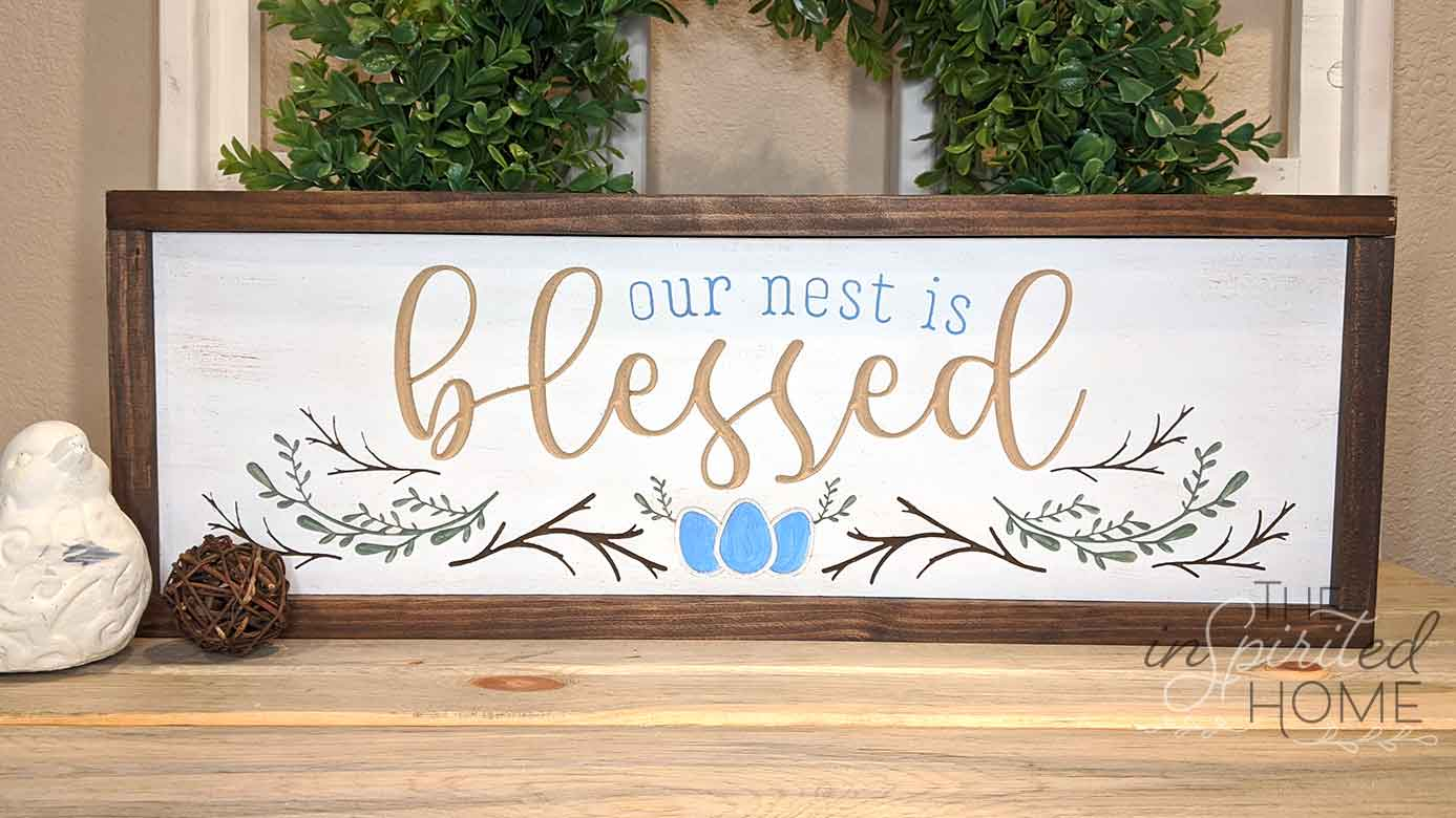 Blessed Nest Sign