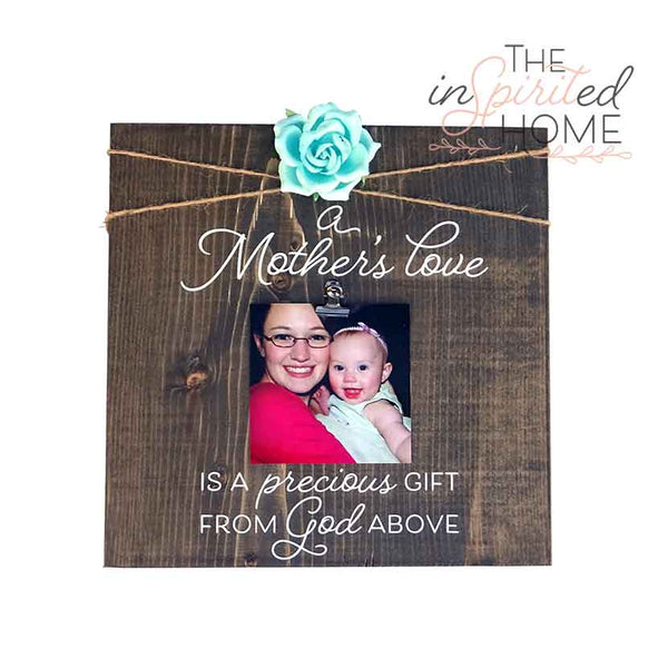 Rustic Wood Mom Sign - A mother's Love is a gift from God above