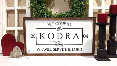 Personalized Christian Family Sign