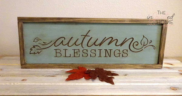 Autumn Blessings- Inspirational home decor
