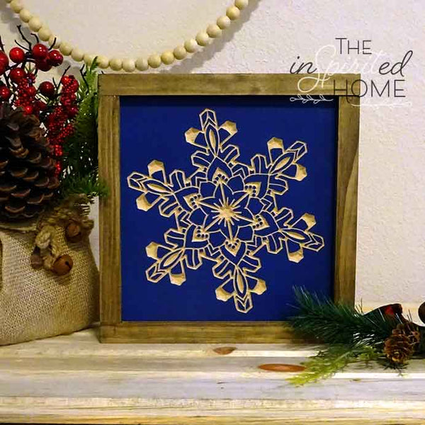 Carved Snowflake - Carved Wooden Wall Art