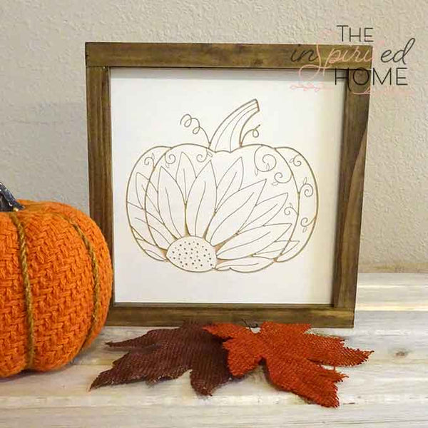 Carved Pumpkin - Carved Wooden Wall Art