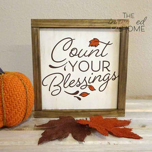 Count Your Blessings Fall Wood Decor