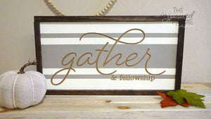 Gather & Fellowship - Christian wood signs
