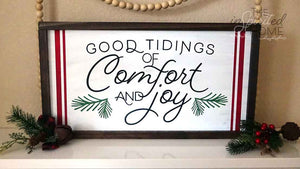 Good Tidings of Comfort & Joy - Hymn wall sign