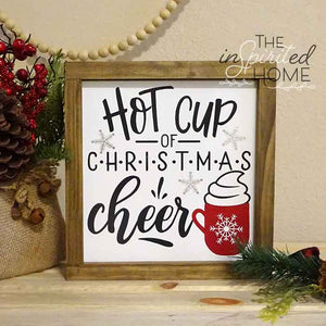 Hot Cup of Christmas Cheer - Coffee Sign