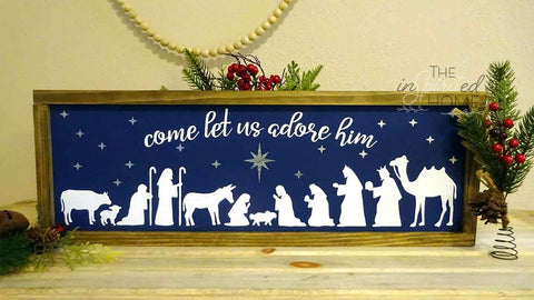 Nativity Scene Sign - Christmas Wall Art