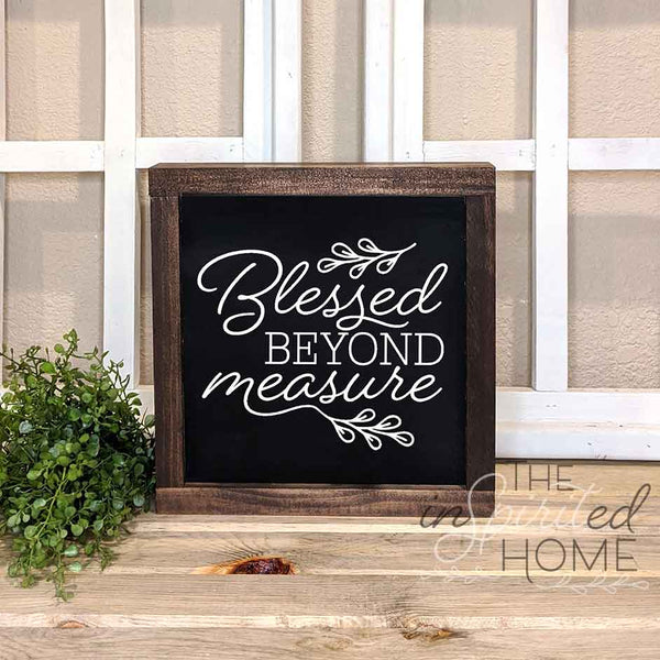 Blessed Beyond Measure - Wood Wall Decor