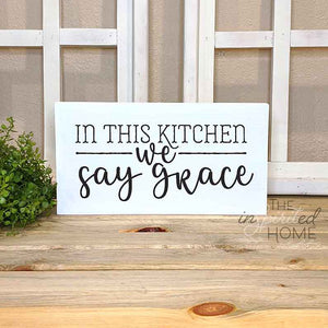 In this Kitchen Sign