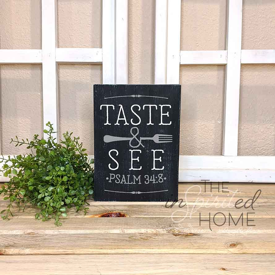Psalm 34:8 - Kitchen Wall Decor