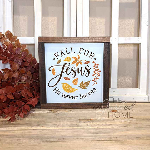 Fall for Jesus Sign