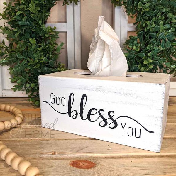 Bless you - Tissue Box Cover