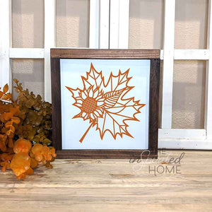 Maple Leaf Wood Decor