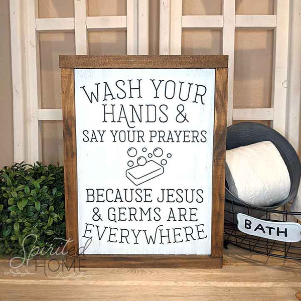Funny Bathroom Signs • Rustic Christian Signs