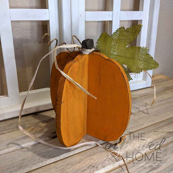 Pumpkin Wood Decor