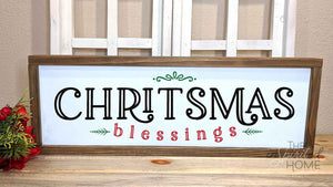Christmas Blessings - Christmas Framed Wall Art