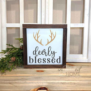 Deerly Blessed - Christmas Wall Decor