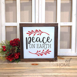 Peace on Earth - Hymn Wall Sign