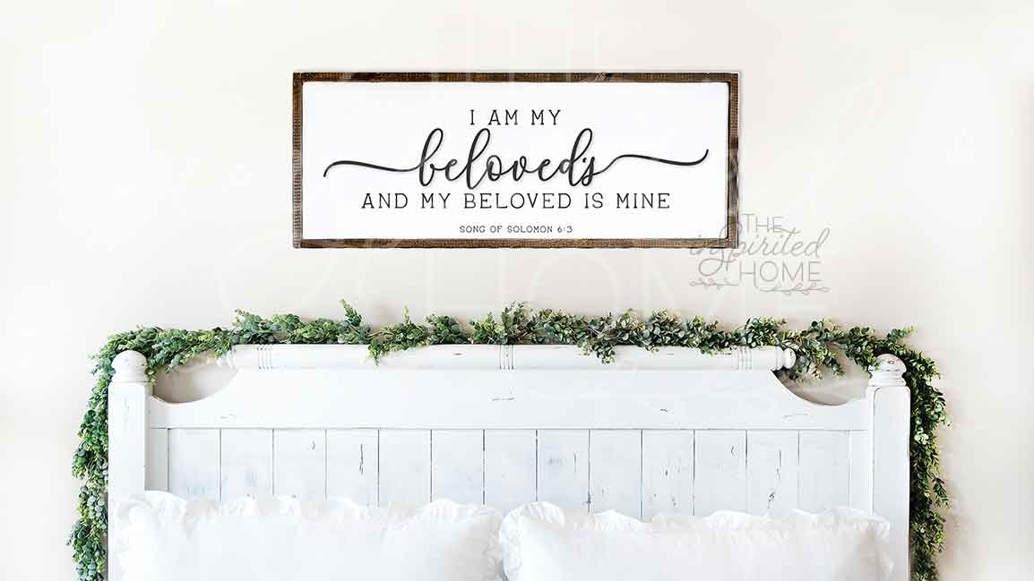 i am my beloved and my beloved is mine sign