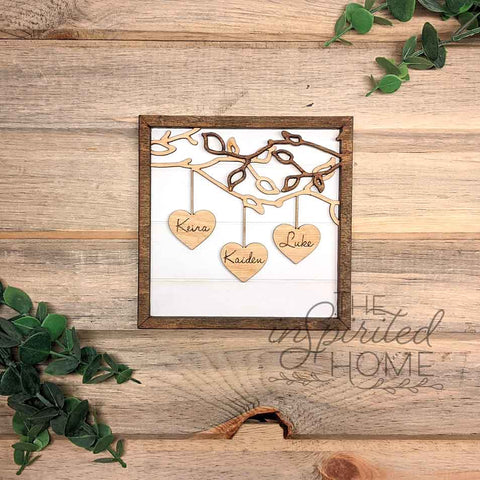 Family Heart Branches - Mother's Gift