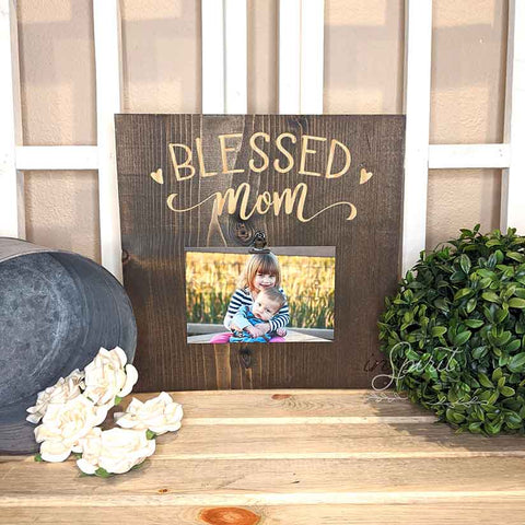 Blessed Mom  - Wooden Plaque